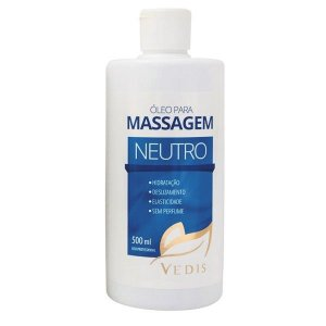 Óleo para Massagem Sem Perfume Neutro Vedis - 500ml