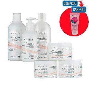 Kit Limpeza de Pele Profissional Face Care Vedis - 6 Itens + (Brinde)