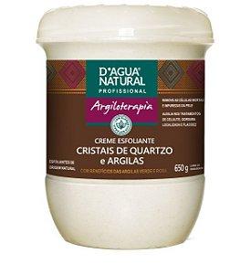 Creme Esfoliante Cristais de Quartzo e Argilas D'agua Natural - 650g