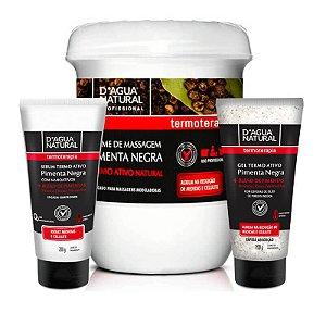 Kit Termotarapia Pimenta Negra D'agua Natural - 3 Itens