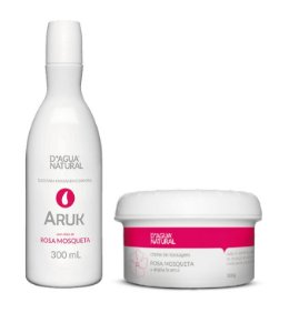 Kit Anti Estrias Rosa Mosqueta e Argila Branca Dagua Natural