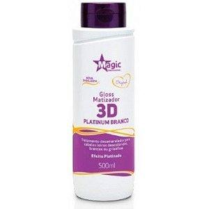Magic Color Matizador 3D Platinum Branco 500 ml