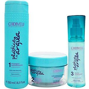Kit Cadiveu Plástica de Argila Botox Capilar Shampoo + Finalizador + Mascara
