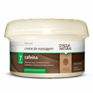 D'água Natural Creme de Massagem 7 Ativos com Cafeína - 300g