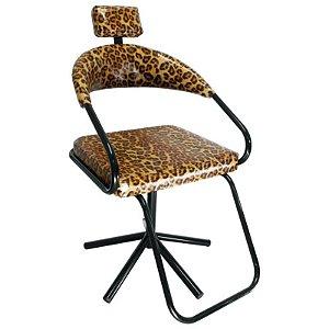 Cadeira Para Salão Slim com Apoio Para Cabeça Onça Lizze