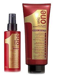 Kit Revlon Uniq One Shampoo Balm + Leave-in Spray 10 em 1