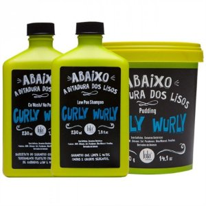 Kit Lola Curly Wurly No e Low Poo / Co wash para Cabelos Cacheados