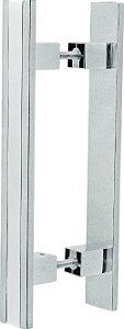 REF. 355 ACETINADO - Puxador Alumínio Barra Reta com Friso Cromado