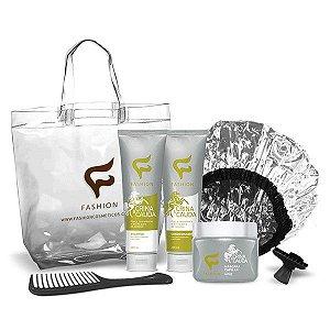 KIT DE TRATAMENTO - CRINA E CAUDA  (Fashion Cosméticos - Promove revitalização e reestruturação das fibras capilares dando adeus ao cabelo danificado.)