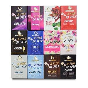 KIT PERFUME A FLOR DA PELE (Ez Fragrâncias - Perfume com fragrância importa que deixa o aroma  mais duradouro no corpo e com o cheiro idêntico ao original.)
