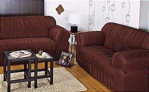 CAPA DE SOFÁ VITÓRIA LISA 2/3 LUGARES (Baby Enxovais - A Capa de sofá em malha 100% algodão, 21 elásticos,  traz a maciez do algodão para seu sofá.)
