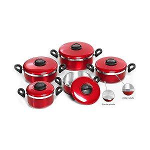 JOGO DE PANELAS TAMPA NORMAL 5 PEÇAS (Patolux - Fabricado dentro de um alto controle de qualidade, para tornar sua cozinha um lugar seguro e confortável.)