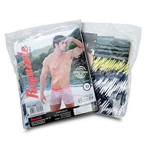 KIT CUECA BOXER REQUINTE - VARIADAS (Cueca boxer estampada com elástico conforto.)
