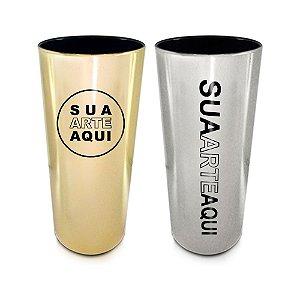 Copo Long Drink Cromado (Copos personalizados para festas ou brindes)