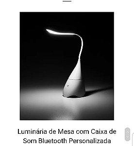 Luminária de Mesa Caixa de Som Bluetooth