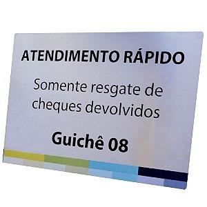 PLACA DE IDENTIFICAÇÃO EM AÇO INOX 30x20 CM (SINALIZAÇÃO INTERNA)