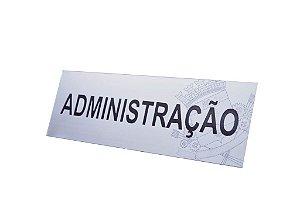 PLACA DE IDENTIFICAÇÃO EM AÇO INOX 24x8 CM (SINALIZAÇÃO INTERNA)