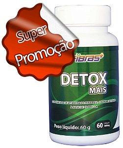 DETOX(FIBRASMAIS ORIGINAL - Frasco 60 cáps -  suplemento de vitaminas e minerais, colina e selênio à base de clorella em cápsulas)