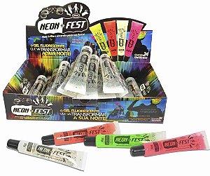 GEL FLUORESCENTE - NEON FEST(Gel fluorescente para cabelo e pele)