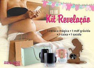 Kit Revelação  (1 Caneca + 1 Quadro MDF + Caixa + Saco Kraft)