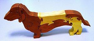 Quebra-Cabeça 3D - Cachorro linguiçinha