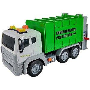 Caminhão de lixo com fricção luz e som 1:12