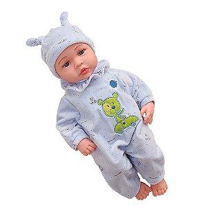 Boneca Bebê Reborn Laura Baby Cry Valentim Brinca Chora e Ri