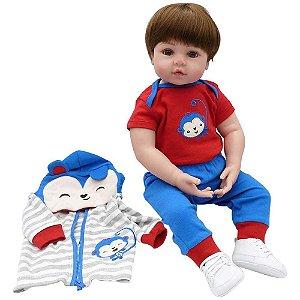 Boneca Bebe Reborn Laura Baby Gui