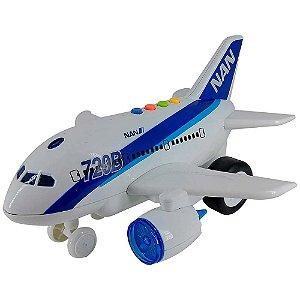 Avião de Brinquedo com Luz e Som 1:160