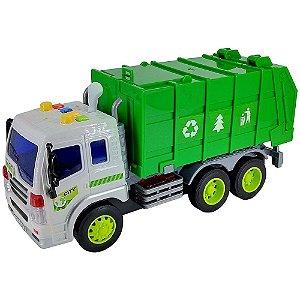 Caminhão de Lixo Com Som E Luz A Fricção 1:16