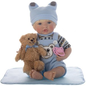 Boneca Bebe Reborn Laura Newborn Enzo