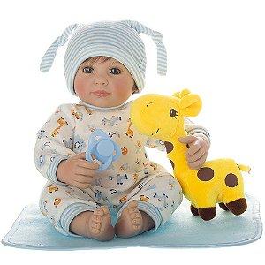 Boneca Bebe Reborn Laura Baby Lucca menino corpo algodão