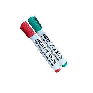 Marcador Pincel Caneta Para Quadro Branco Kit com 2 Canetinhas