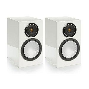 Caixa Acústica Bookshelf Monitor Audio Silver SSS2W Branco Laqueado