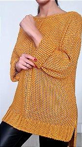 Tricot Mullet Feminino Conterre - Amarelo Saffron