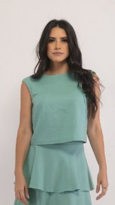 Cropped Juliana - Verde Menta