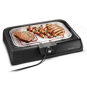 Churrasqueira Elétrica Premium Multilaser 220V Preta Para Assar Carne Frango Linguiça Assada