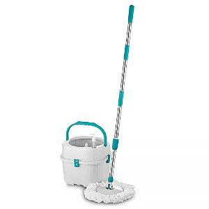 Mop Balde 360° 3 Em 1 Multilaser 15 Litros Multiuso Para Passar Pano Na Casa Limpa Bem Facil E Rapido