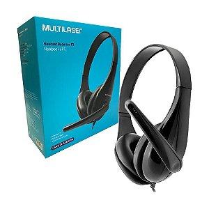 Fone de Ouvido Headset Para Escritório Multilaser Preto Com Microfone Gamer