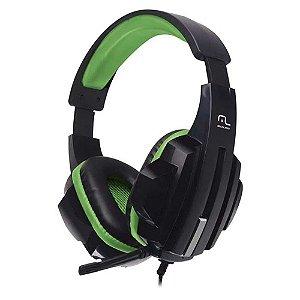 Fone De Ouvido Headset Com Fio Gamer Nylon Verde Com Preto Alta Qualidade