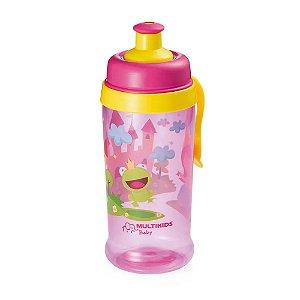Copo Infantil Com Bico Pra Beber Tomar Agua Rosa Da Princesa SQUEEZE GROW MENINA Portatil de Boa Qualidade BB032