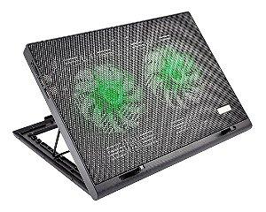 Base de Suporte Portátil Com Cooler Para Notebook de Mesa Cama ou Sofa Power Cooler Gamer Com Led Luminoso da Multilaser AC267