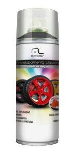 Spray De Tinta Emborrachada Pra Carro Automotivo Moto madeira Preto Fosco Envelopamento liquido 400ml AU420
