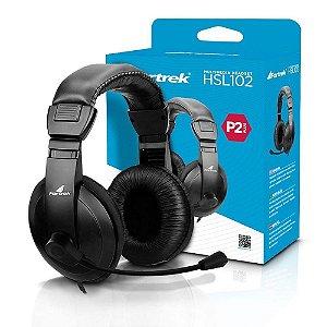 Fone De Ouvido Com Microfone Headset Multimídia Para Pc Notebook HSL-102 Fortrek