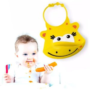 Babador de Silicone Silybib Girafa Multikids Infantil para Bebês