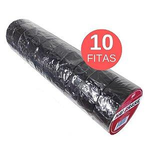 FITA ISOLANTE 8,5M EM TUBO COM 10 ROLOS Pretos Hai Brasil