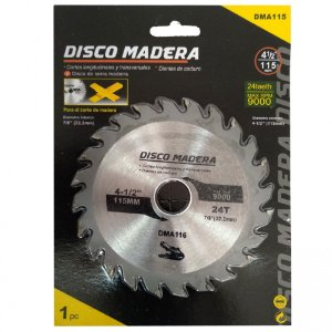 "DISCO DE CORTE 4"" PARA MADEIRA CALAO 24teeth Max RPM 9000"