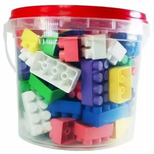 LEGO 52 PEÇAS BLOCK MONTA MONTA COLORIDO DIFERENTE INFANTIL