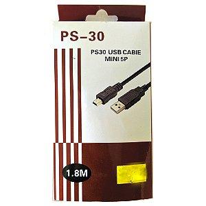 CABO USB X V3 1.8M PS-30 MINI 5P Boa Qualidade Preto Barato