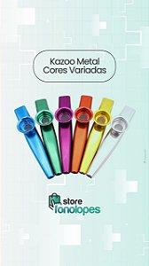 KIT C/ 5 KAZOO METAL - Cores Variadas